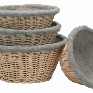 Banneton Linen Lined Basket