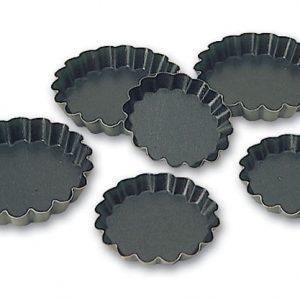 Exopan® Steel Non-Stick Fluted Tartlet Mold