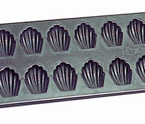 Steel Non-Stick Madeleine 12 Count Sheet
