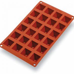 Matfer Bourgeat Gastroflex® Mini Pyramid Mold, 1 3/8