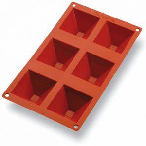 Matfer Bourgeat Gastroflex® Pyramid Mold, 2 3/4x2 3/4