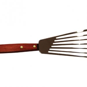 Stainless Steel Fish Spatula/Turner, Wooden Handle, 12