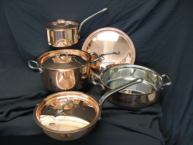 picture of bourgeat 8piece copper cookware set - Copper Cookware Set