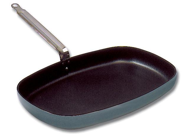 Rectangular Fish Frying Pan Matfer Usa Kitchen Utensils