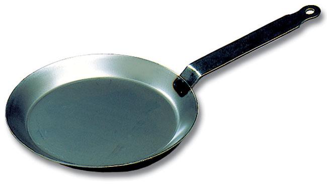 Black Steel Round Crepe Pan Matfer Usa Kitchen Utensils