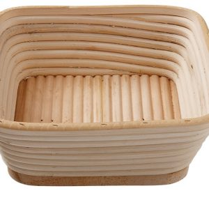 Matfer Bourgeat Banneton Willow Proofing Basket, Square, 8 3/4