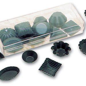 Matfer Bourgeat Box of Petit Four Molds, Nonstick, Set of 50