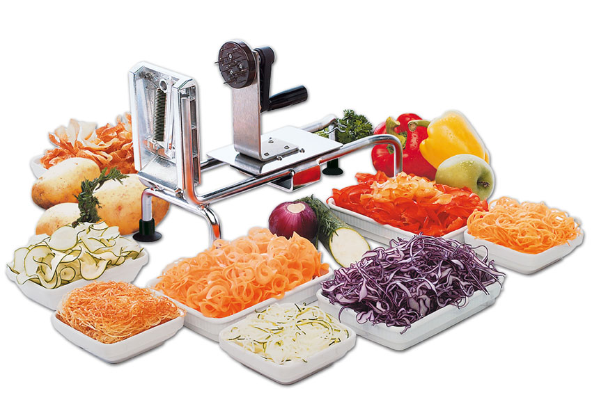Picture Of Spiral Vegetable Slicer Le Rouet
