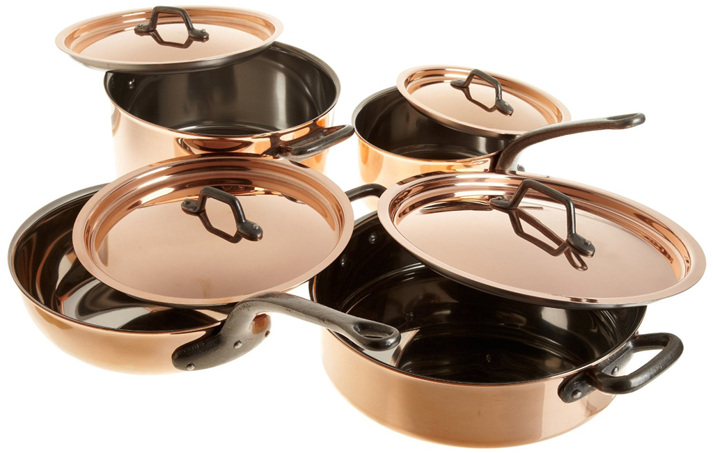 picture of bourgeat 8piece copper cookware set
