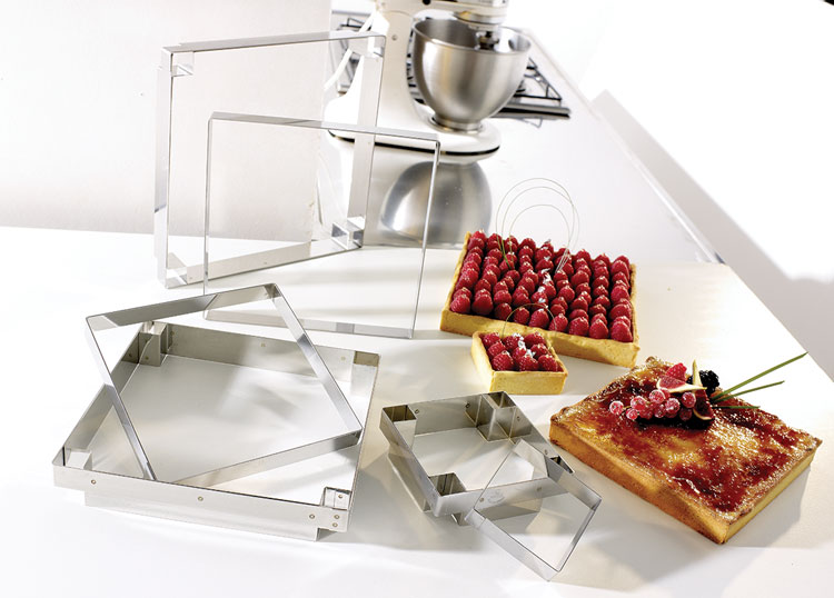 Moza 207 K Tart Square Mold Matfer Usa Kitchen Utensils