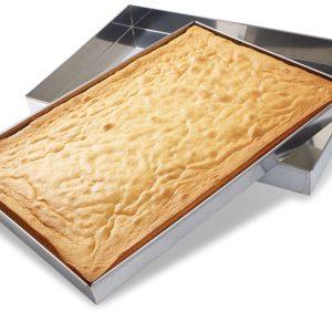 Matfer Bourgeat Stainless Steel Sponge Cake Pan, 23 1/4