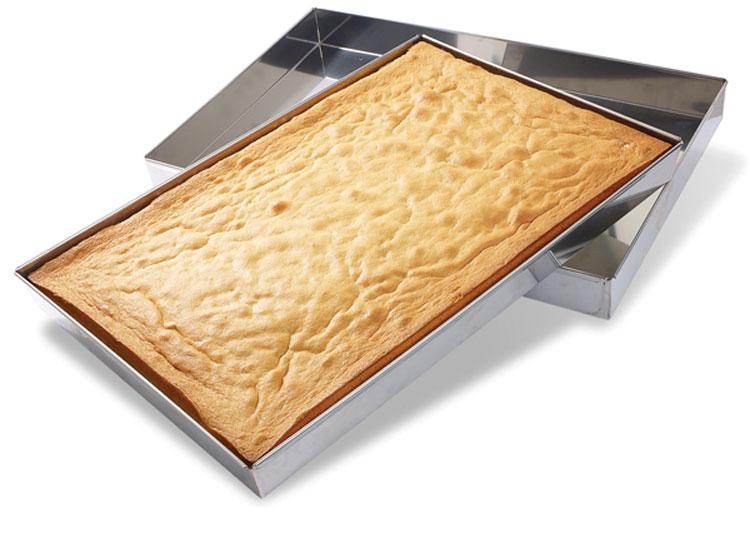 SPONGE CAKE PAN - STAINLESS STEEL | Matfer USA kitchen utensils