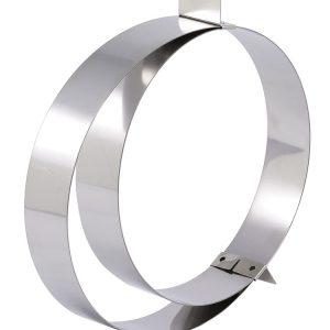 Matfer Bourgeat Adjustable Stainless Steel Tart Ring