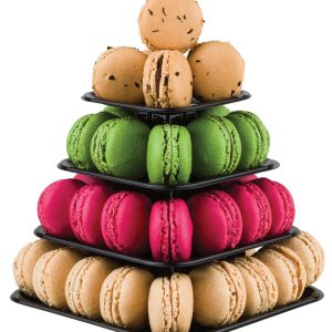 Mini-Pyramid Macarons Display (48 macarons)