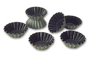 Exopan® Steel Non-Stick Small Flute Brioche Mold