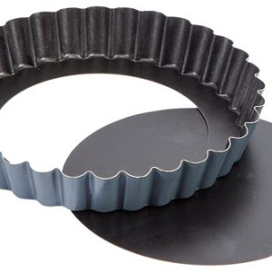 Exopan® Steel Non-Stick Fluted Tartlet Mold With Removable Bottom