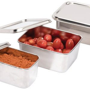 """Lid for """"Japanese Mini Container"""" Stainless Steel"""