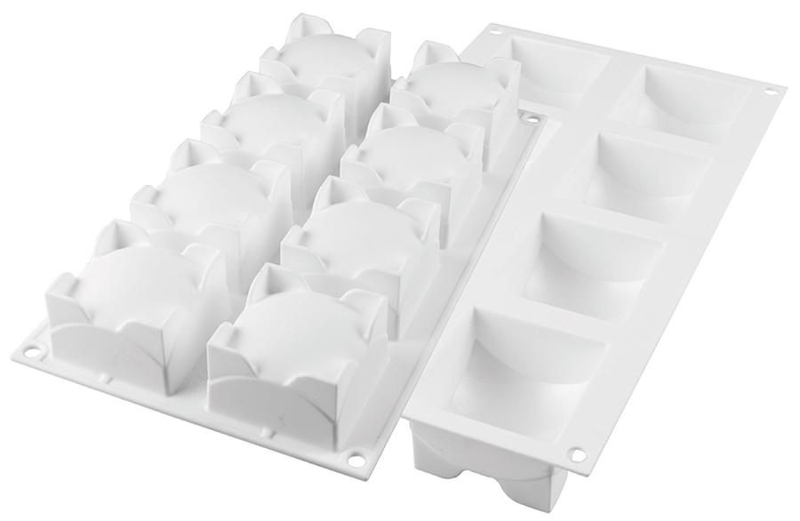Silikomart Silicone 3d Mold Mini Square Sphere Matfer