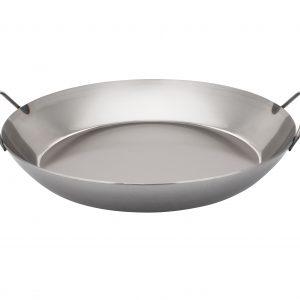 Black Carbon Steel Paella Pan