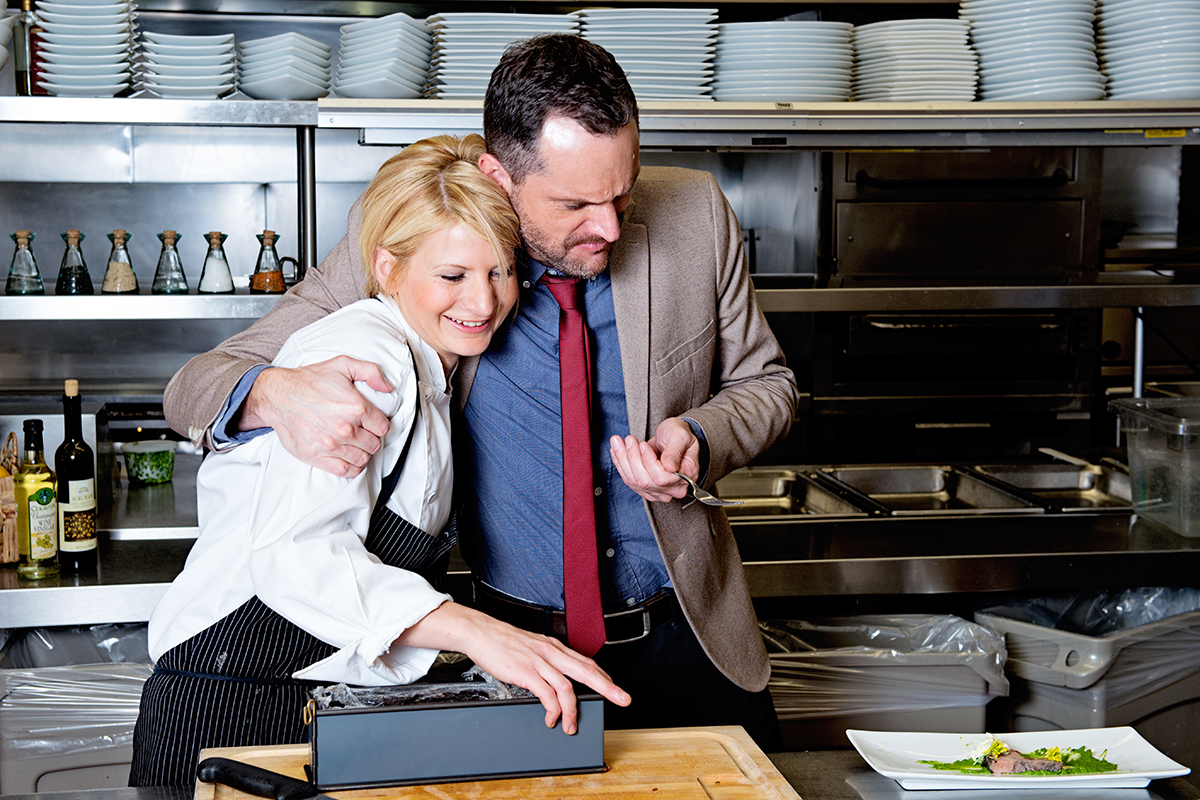 Matfer Bourgeat CEO Alain Stammler and Executive Chef Marissa Gerlach