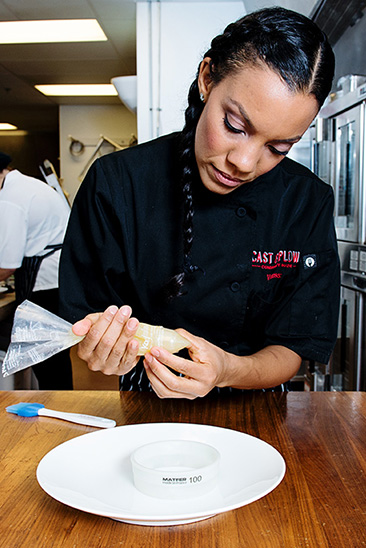 Chef Vanessa Johnson with Duo Decorating Tips and Plain Pastry Cutter