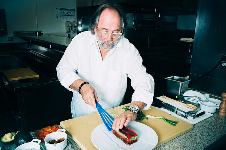Joachim Splichal with Matfer Exoglass Spatula