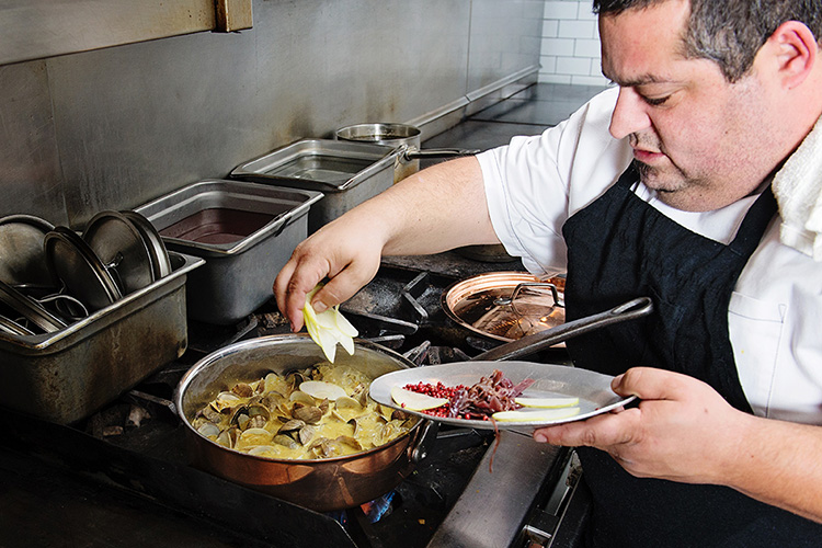 Chef Eric Greenspan heats it up in the kitchen with Matfer Bourgeat's Copper Saute Pan