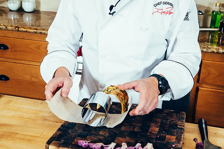 Taste and Tradition Puff Pastry Derrick Peltz using Matfer's High Mousse Cutter