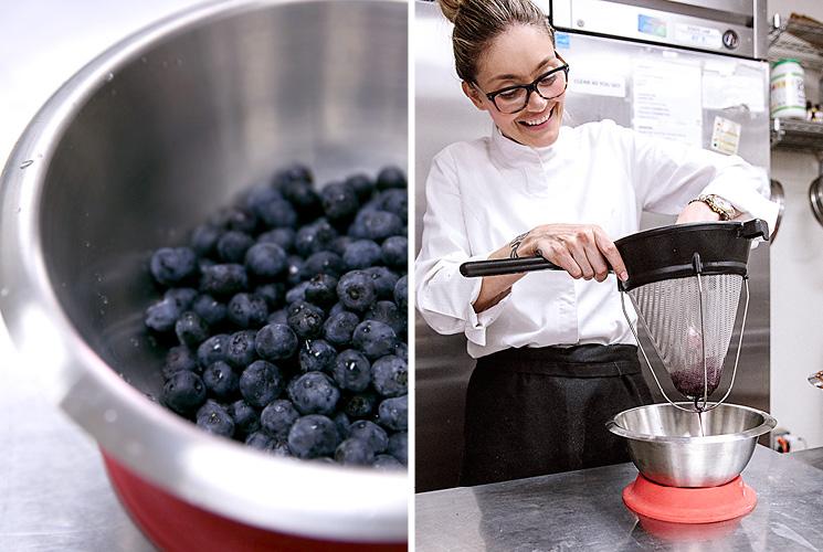 Waylynn Lucas and blueberries