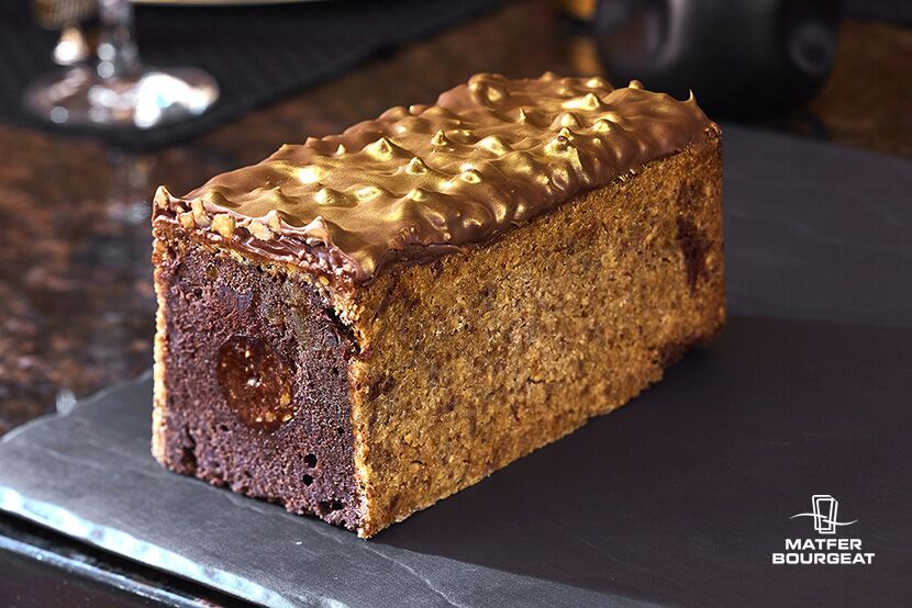 Chocolate Travel Cake with Orange and Praline By Dimitri Fayard