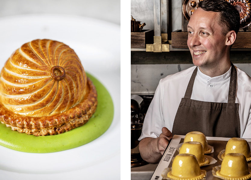 Dauphinoise, Comte and Caramelized Onion Pie by Calum Franklin