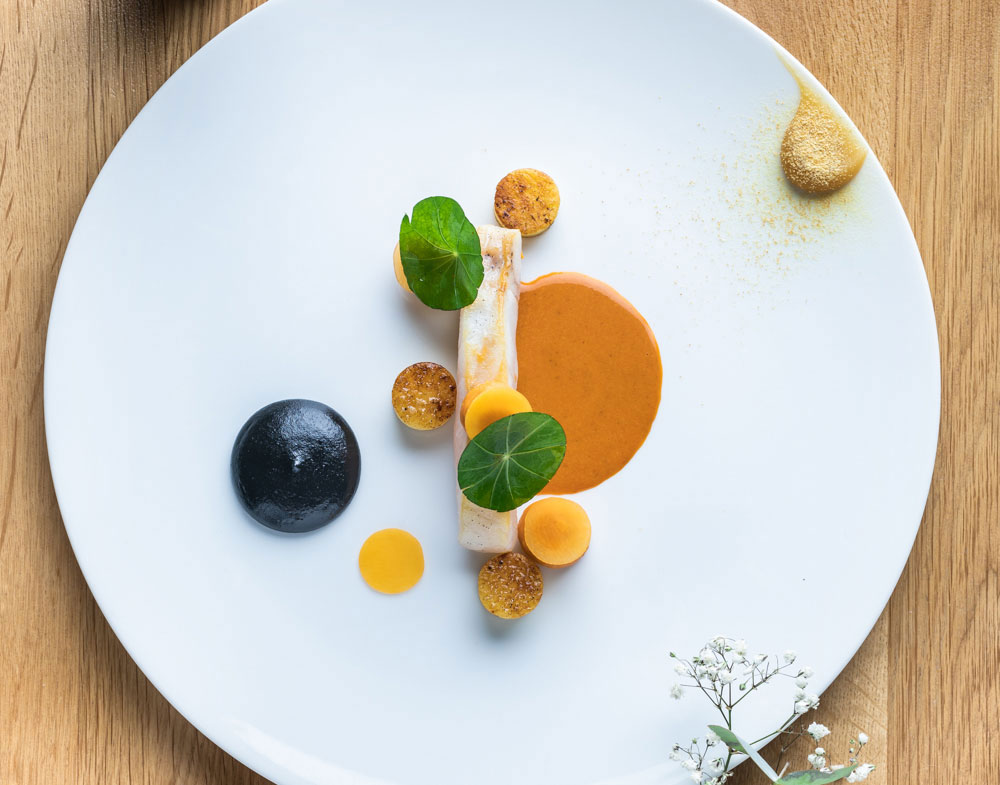 Cod, Butternut Squash and Black Garlic Rouille by Jean-Baptiste Lavergne-Morazzani